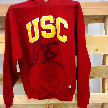 Vintage College Hooded Sweatshirt- USC