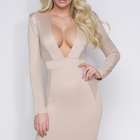 Kinsey Mesh Dress - Nude