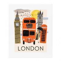 Travel London Art Print by RIFLE PAPER Co. | Made in USA