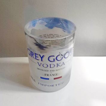 Beautiful Grey Goose Vodka Bottle Handcrafted Highball Drinking Glasses