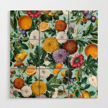Summer Fruit Garden Wood Wall Art by burcukorkmazyurek