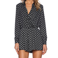 The Fifth Label Atomic Long Sleeve Playsuit in Charcoal