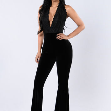 Satisfaction Guaranteed Jumpsuit - Black