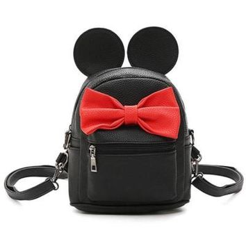 Disney Minnie Mickey Mouse Ears Bow Mini Backpack