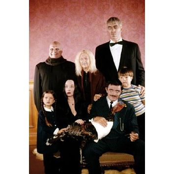 Addams Family poster Metal Sign Wall Art 8in x 12in