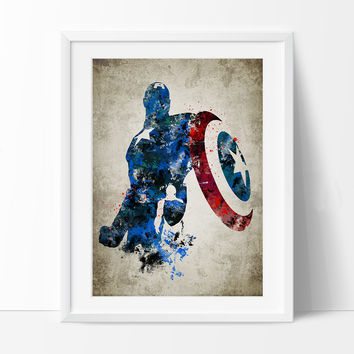 Best captain america poster art products on wanelo Captain america wall decor