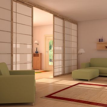 SLIDING WOODEN OPERABLE WALL SHOJI | SLIDING PARTITION WALL | CINIUS