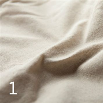1M Basic Linen Cotton Plain Natural Fabric Material Craft DIY Curtain Cushion Table Cloth New