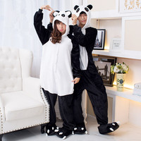 Pyjamas women Panda Onesuits for adults sleep lounge pajamas Panda sleepwear Flannel Animal pajamas one piece