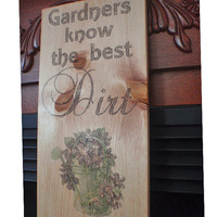 Gardening sign, garden sign, gardening signs, wood sign, wooden gardening sign, FREE SHIPPING