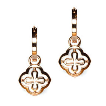 Sterling Silver Rose Gold Vermeil Lattice Earring Charms