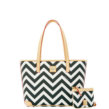 Chevron Charleston with Medium Wristlet