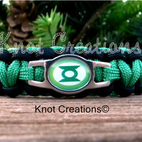Green Lantern Paracord Bracelet Custom Handmade-Wrist Measurement REQUIRED Please Read Listing Details