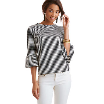 Crewneck Bell Sleeve Top