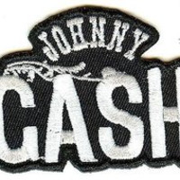 Johnny Cash Iron-On Patch Wings Logo