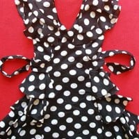 Black & White Polka Dot Layered Dress
