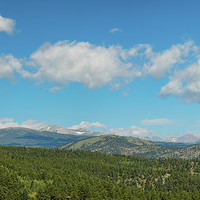 Sugar Magnolia Summer Rocky Mountain Peaks Panorama View