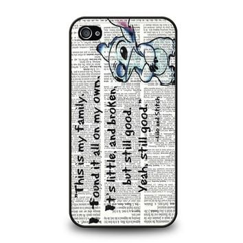 LILO AND STITCH QUOTES Disney iPhone 4 / 4S Case Cover