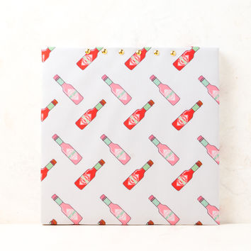 Hot Sauce Red & Pink Cork Board