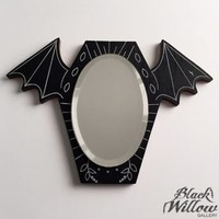 BLACK WILLOW GALLERY BAT MIRROR