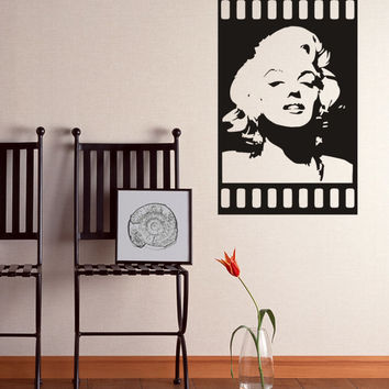 Marilyn Monroe Wall Quotes Silhouette Wall Decal Art Decor