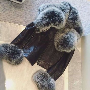 Women Fur Coat Winter Women Long Faux Fox Fur Leather Coats Furry Luxury Womens Fake Fur Jacket Faux Fur Coat Jacket