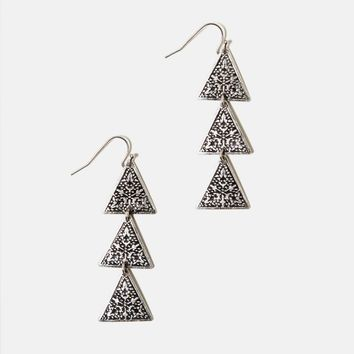 AEO TRIANGLE CHANDELIER EARRINGS