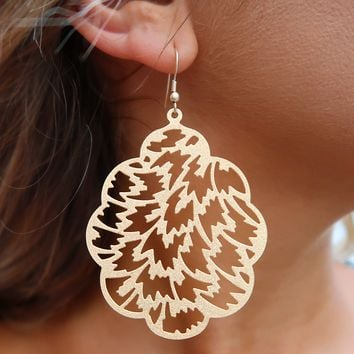 Find Yourself Earrings: Gold