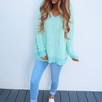 The Snuggle Sweater: Spearmint