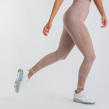 Gymshark Seamless Energy High Waisted Leggings - Taupe