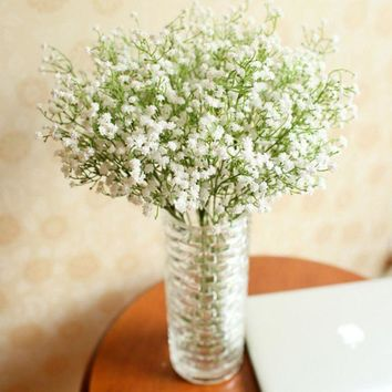 Flowers  Artificial Gypsophila Flower Fake Silk Wedding Party Bouquet Home Decor #1517