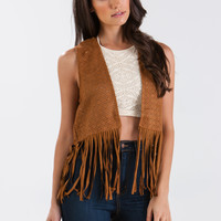 Twinkle Twinkle Cut-Out Fringe Vest