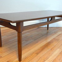 Mid Century Modern Coffee Table with Tapered Peg by TheModCabin