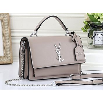 YSL Hot Selling Ladies Pure Single Shoulder Bag Shopping Bag Khaki