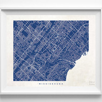 Mississauga, Onatario, Canada,  Print, Map, Poster, State, City, Street Map, Art, Decor, Town, Room, Wall Art, Customize, Dorm [NO 1082]