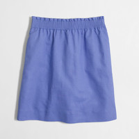 Factory linen-cotton mini skirt : Mini & A-Line | J.Crew Factory
