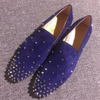 DCCK Cl Christian Louboutin Loafer Style #2366 Sneakers Fashion Shoes