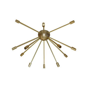 Raw Brass Sputnik Chandelier