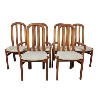 Pre-owned Danish Modern Teak Dining Chairs - Set of 6