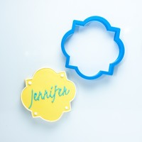 The Jennifer Plaque Cookie Cutter