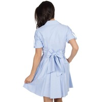 The Taylor Oxford Dress in Blue by Lauren James