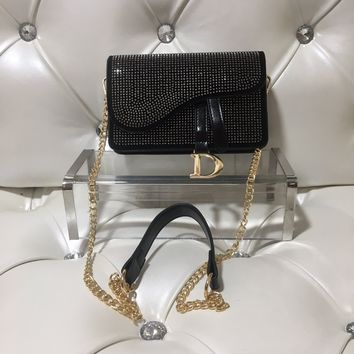 hcxx 1265 Lady Dior Horse saddle covered with stars hot drill black