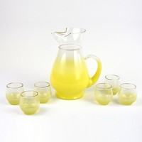 Patina Vie Vintage Yellow Cocktail Service Set