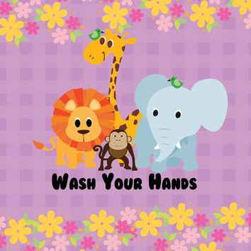 Childrens Poster - Wash your Hands