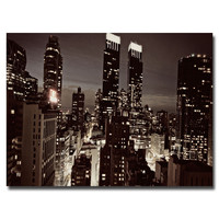 "Trademark Art ""NYC After Dark"" by Ariane Moshayedi Photographic Print on Canvas"
