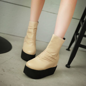 Wedges Boots Women Platform Shoes Fall|Winter