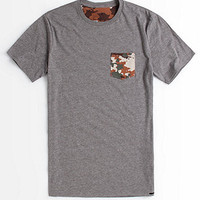 On The Byas Camm Camo Pocket Crew Tee at PacSun.com