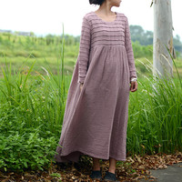 Round neck cotton dress