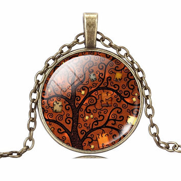 Fall Life Tree Necklace