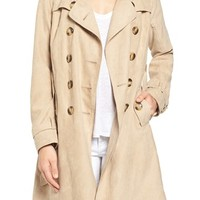 Steve Madden Faux Suede Trench Coat | Nordstrom